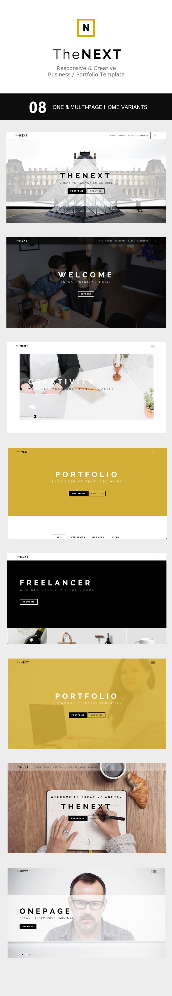 Thenext creative business portfolio template themevoid for Company portfolio template doc