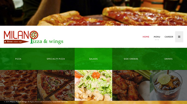 milano pizza and wings